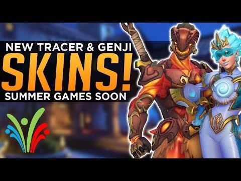 Overwatch: NEW Tracer & Genji SKINS! - Summer Games Next Week!?