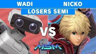 MSM 176 - Wadi (R.O.B.) vs Nicko (Shulk) Losers Semis - Smash Ultimate