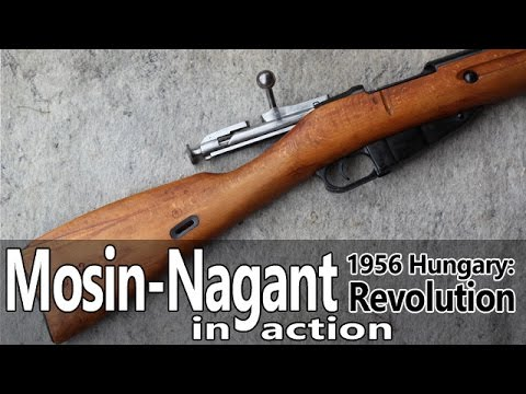 Mosin-Nagant 91/30 rifle in action - Guns of the 1956 Revolution Part IV