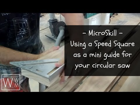 MicroSkill - How to Use a Speed Square to get Perfect Cuts