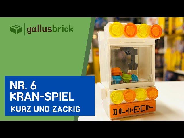 Ich baue ein Kran-Spiel aus LEGO® | Nr. 6 kurz und zackig