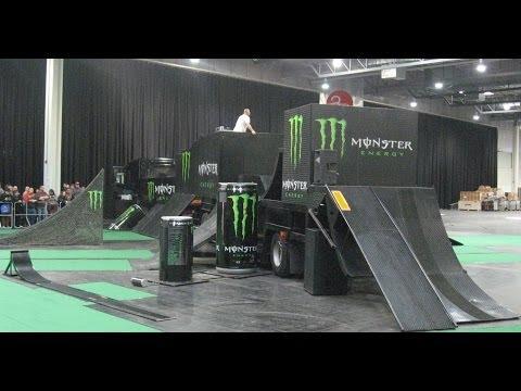 Monster Energy Stunt Show auf der Motorradmesse Dortmund 2014 Monster Trial Show