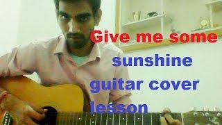 Give Me Some Sunshine - MOST EASY GUITAR Cover LESSON CHORDS STRUMMING - 3 IDIOTS