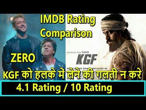 KGF Beats Zero IMDB Ratings Comparison I Yash Vs SRK Clash On December 21 2018