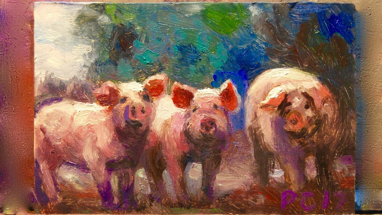 3 pigs painting demonstration journal youtube