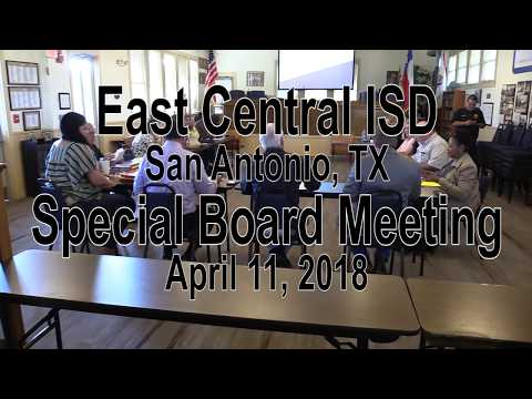 ECISD Special Board Meeting 4/11/2018