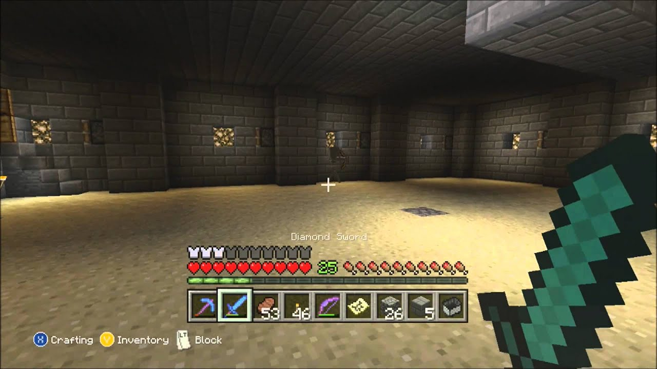 Minecraft xbox 360 must build mob spawner room 2 youtube for Minecraft living room ideas xbox 360