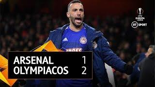 Arsenal vs Olympiacos (1-2) 2-2 Agg. | UEFA Europa League Highlights