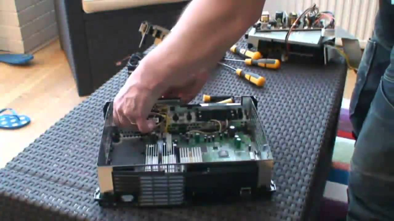 Building Wiring Diagram Small Fishing Boat An Xbox Powered Arcade Cabinet Part 1: Disassembly Of Original Console - Youtube