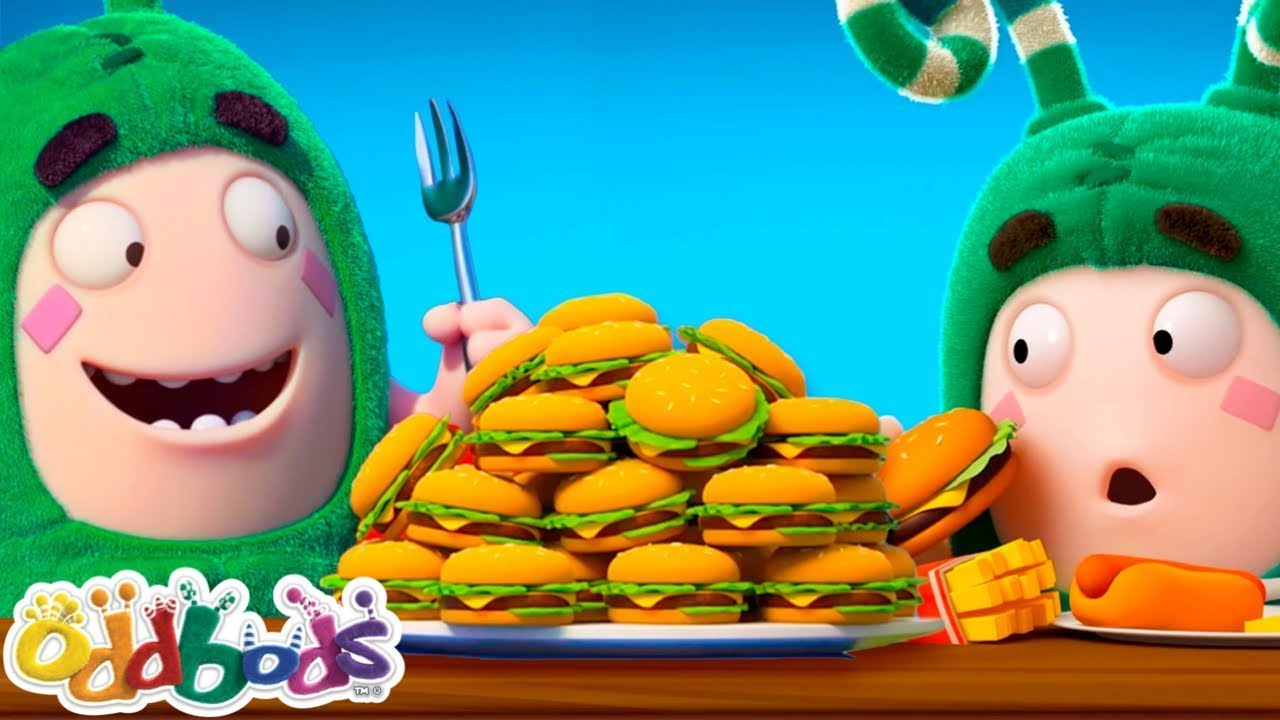 Eating Together With Friends | Oddbods | BAHARU | Kartun Lucu Untuk Kanak