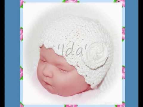 Ida Multisize Vintage Rose 1930s Style Baby Or Reborn Doll Hat Aran