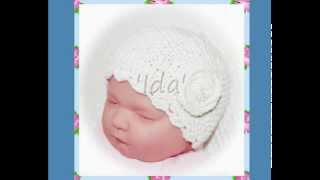 Ida Multisize Vintage Rose 1930s Style Baby Or Reborn Doll Hat Aran Yarn Knitting Pattern