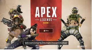 Apex Legends Server Down? Origin Unable to connect to EA Servers.