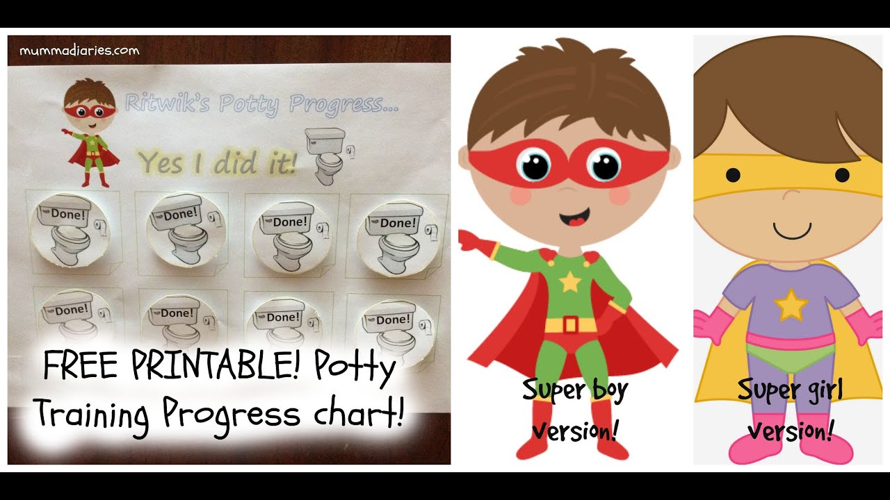 potty training progress chart for toddlers printable