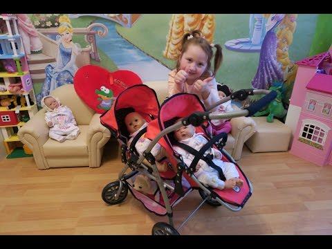 Коляска для двух кукол двойняшек распаковываем собираем Bayer Chic 2000 Buggy Vario Twin unboxing