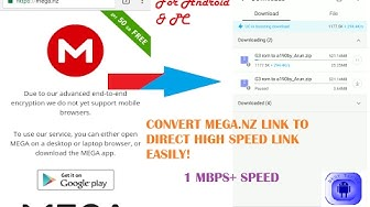 Trick to Download Mega Links Directly Via UC browser or IDM OR ADM at High Speed