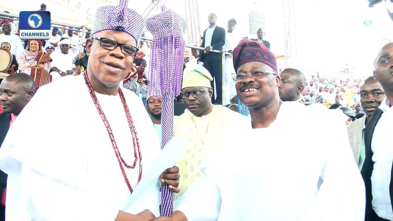 Download Gov Ajimobi Elevates 21 New Obas, Makes History  Metrofile 