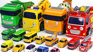 Tayo bus, fire truck, garbage truck, taxi all together~!   PinkyPopTOY