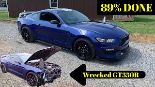 Rebuilding wrecked 2016 Ford Mustang gt350R part 7