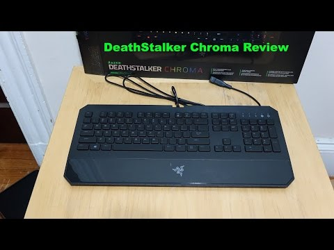 Razer DeathStalker Chroma Review and Unboxing