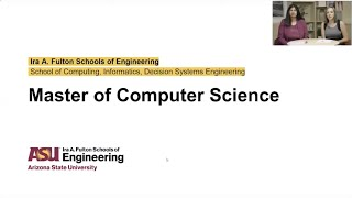 ASU's Online Master of Computer Science - Live Q&A webinar - October 2019