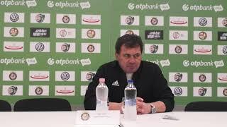 Dajka László értékelte az Újpest elleni mérkőzést