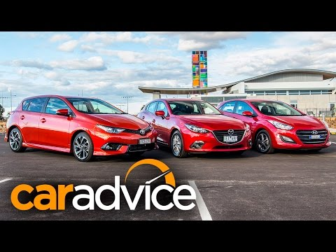 Small Car Comparison Review Toyota Corolla, Mazda 3, Hyundai i30