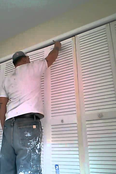 Pro Painting Of Louvered Door By Dan The Man Youtube