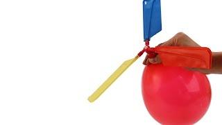 Обзор, воздушный шар вертолет - шарик с пропеллером