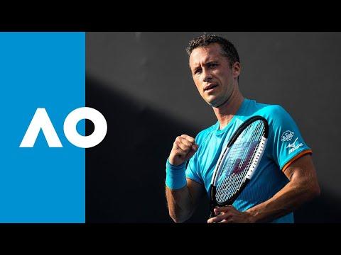Philipp Kohlschreiber v Zhe Li match highlights (1R)   Australian Open 2019