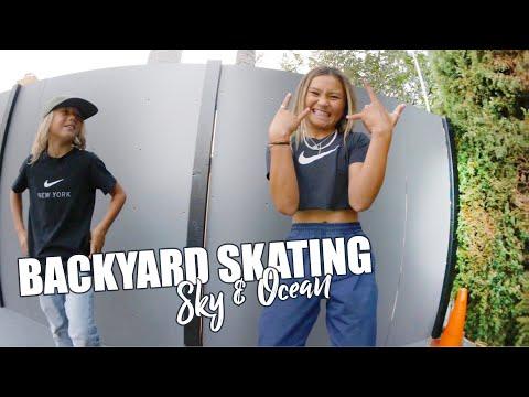 BACKYARD SKATING at LETICIA BUFONI'S | Sky & Ocean Vlogs