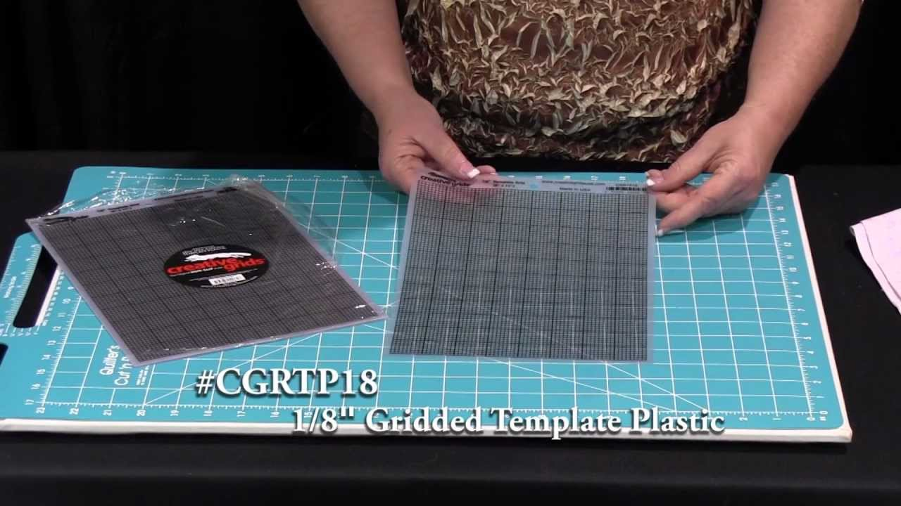 creative grids 18 gridded template plastic cgrtp18