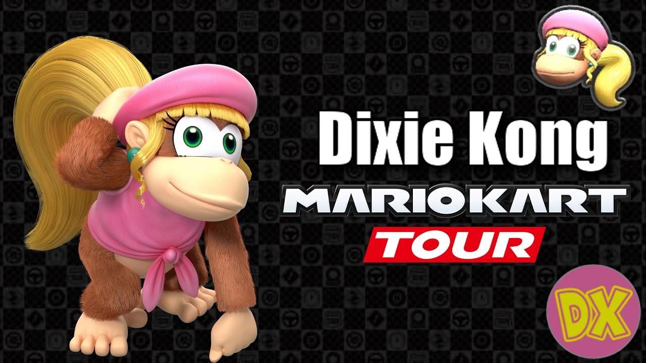 Mario Kart Tour Dixie Kong S Voice Lines Youtube