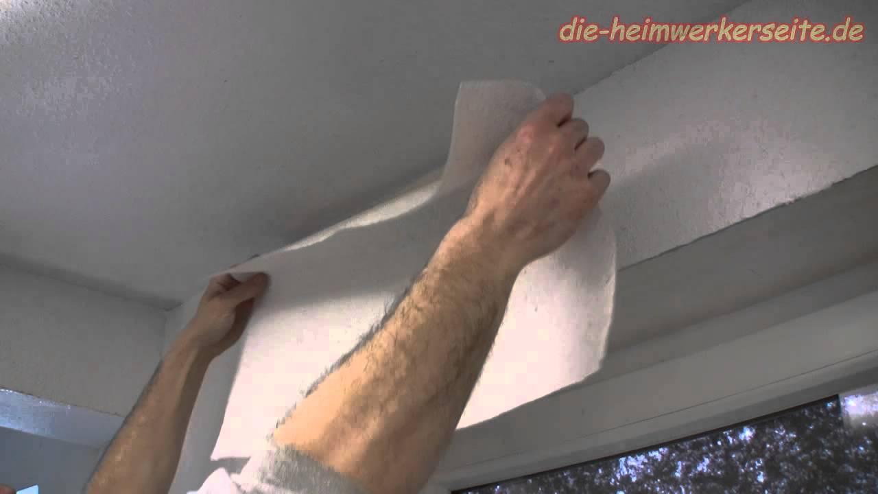 Fensterlaibung Mit Rauhfaser Tapezieren