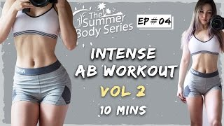 10 Min Intense Ab Workout | Flat Tummy Exercises Routine