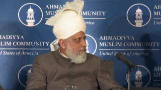 Khalifa of Islam addressing US Policy Makers at Capitol Hill Washington DC
