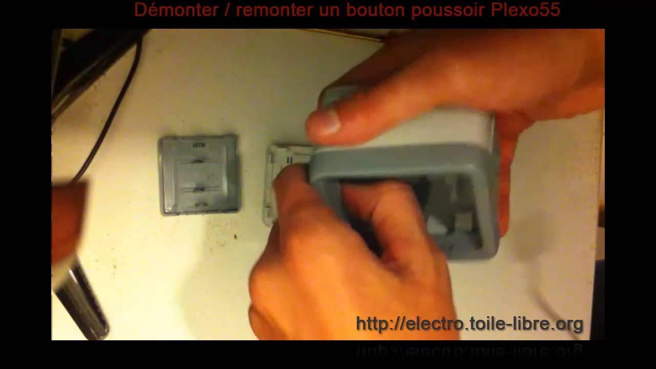 D monter remonter un bouton poussoir plexo55 legrand for Bouton de sonnette exterieur legrand