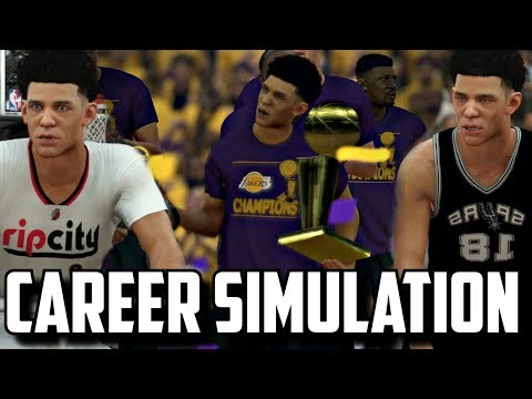 SIMULATING LONZO BALL'S CAREER IN NBA2K17!!(2017-2034) LAVAR WAS WRONG!?!