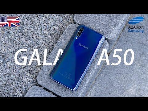 Samsung Galaxy A50 Unboxing english 4k