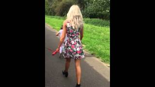 Upskirt over bent public Candid