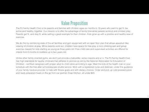 DMGT 702 PC3 Value Proposition: Fit Family Health Club