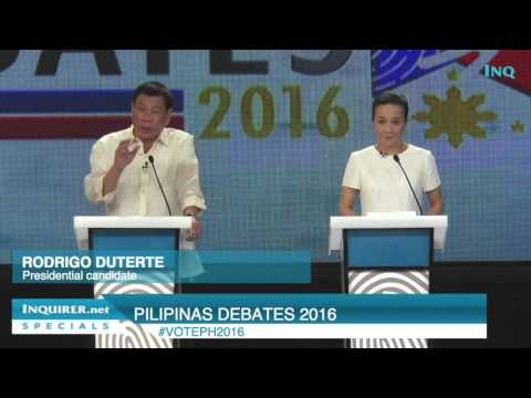 Poe: Mindanao peace includes all; Duterte: Federalism is solution