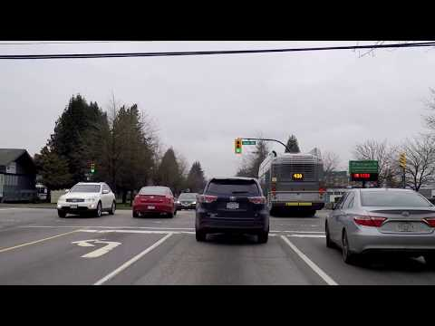 Driving to Downtown Vancouver & Stanley Park BC Canada - Tour of City