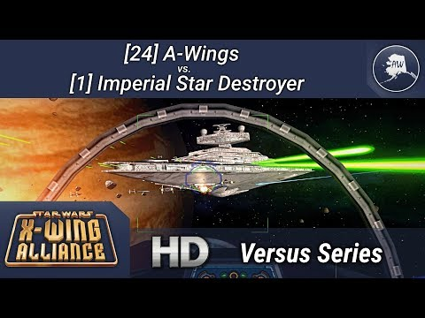 24 A-Wings Vs. 1 Imperial Star Destroyer - X-Wing Alliance