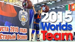 Russian Male Weightlifting Team 2015 World Weightlifting Championships Houston