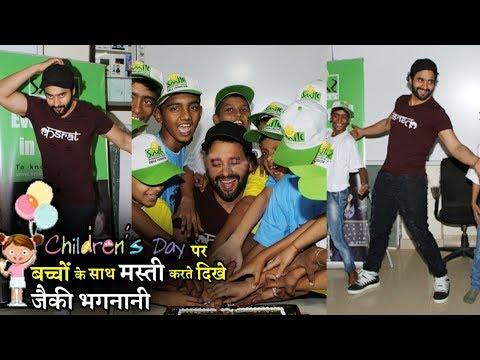 Jackky Bhagnani Meet Smile Foundation Kids To Celebrate Children Day   Uncut