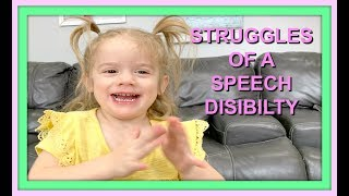 A DAY IN THE LIFE OF A SPEECH DISABILITY | TODDLER
