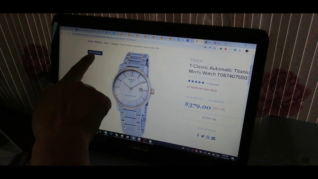 Có nên mua đồng hồ trên jomashop, amazon, ebay...