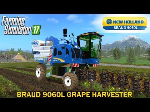 Farming Simulator 17 NEW HOLLAND BRAUD 9060L GRAPE HARVESTER