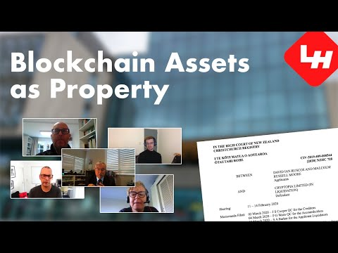 Cryptocurrencies & Blockchain Digital Assets as Property: Ruscoe v Cryptopia